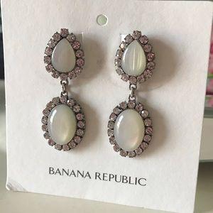 Glitz Pave Earrings NEW from Banana Republic